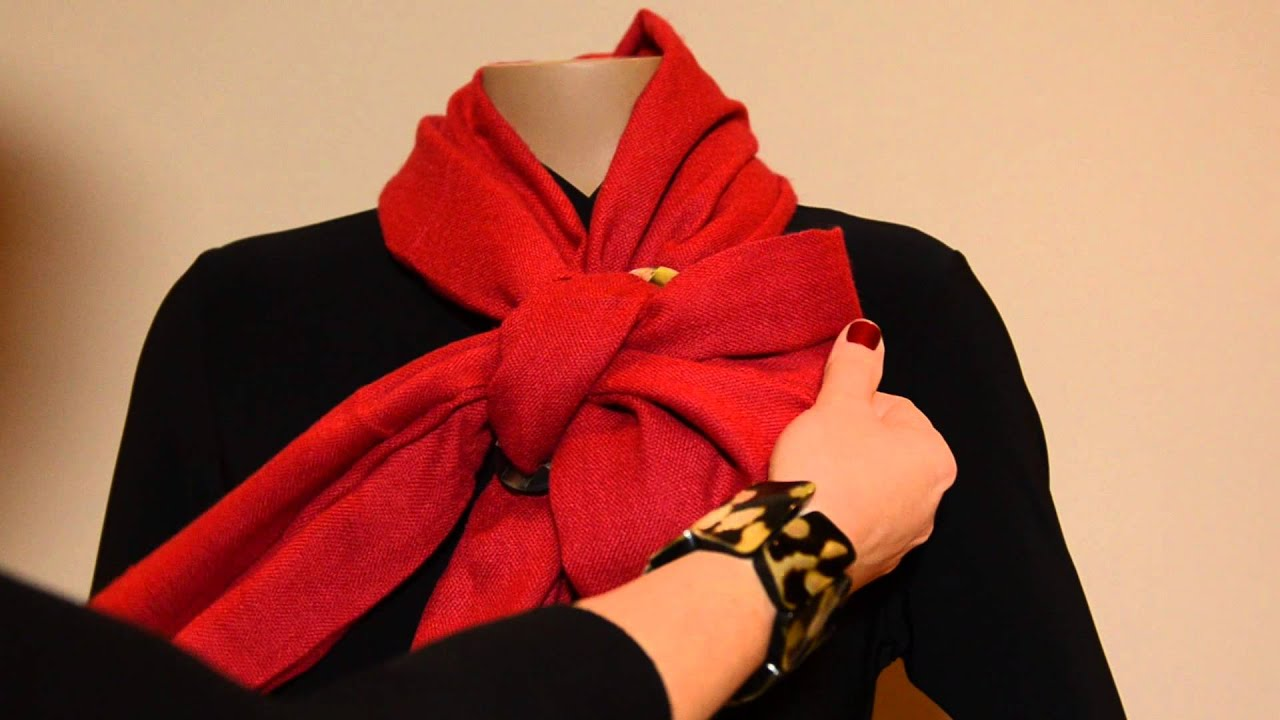 How To Tie Scarf Ring  Half Bow Knot