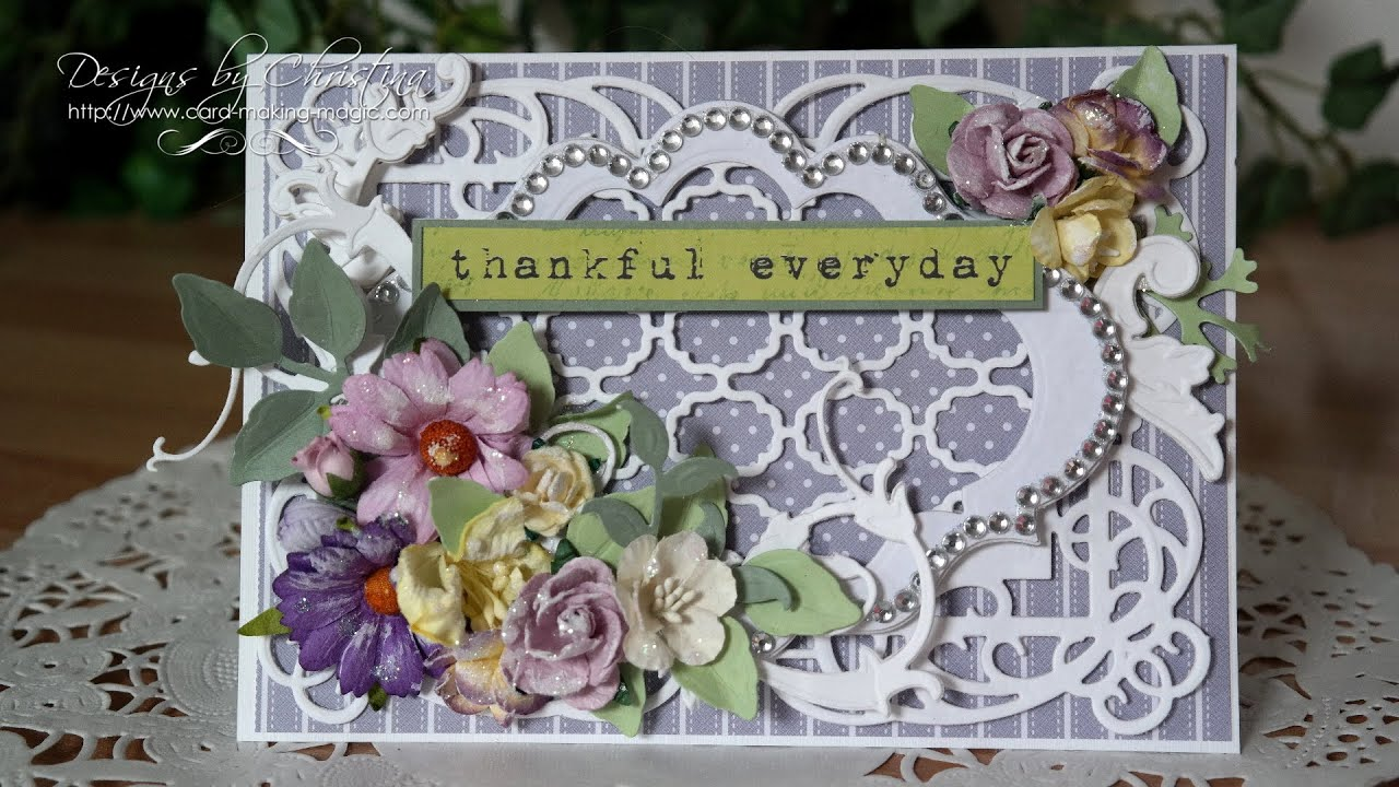 spellbinders labels twenty floral card youtube
