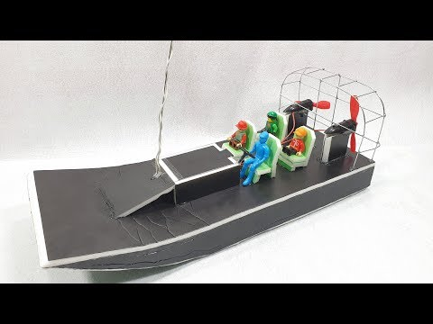 How To Make mini RC AirBoat Twin N50 Motor