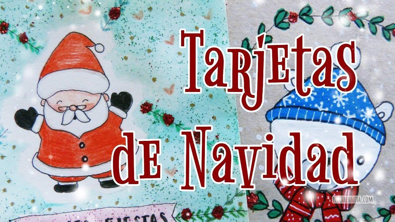 C mo hacer tarjetas de navidad f ciles y bonitas cartas - Como hacer tarjetas de navidad faciles ...