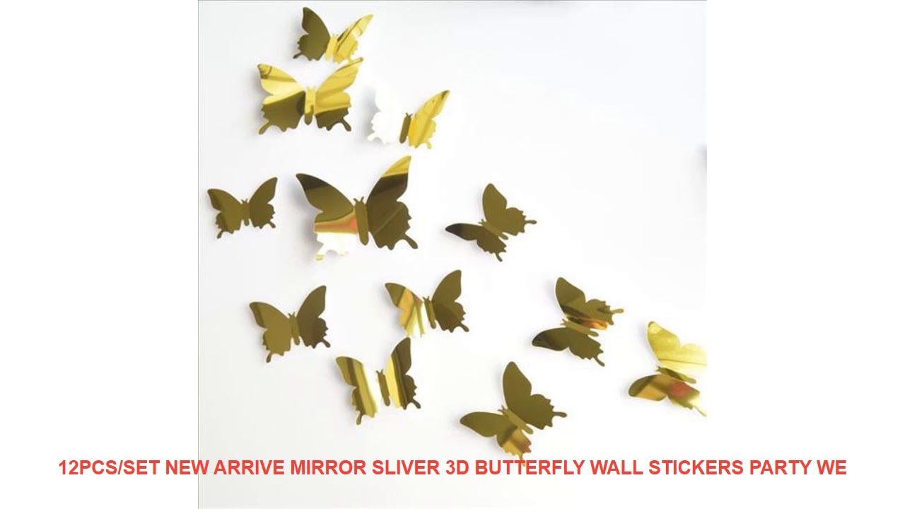 3d butterfly wall stckers wall decors wall art wall.htm 12pcs set new arrive mirror sliver 3d butterfly wall stickers  sliver 3d butterfly wall stickers