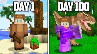 I Survived 100 Days of Jurrassic Park in Minecraft...