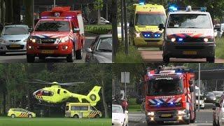PRIO1 17-3361 (SI44-0) 17-3431, Politie en A1 17-153 LFL01 Zuiderpark Rotterdam. #432