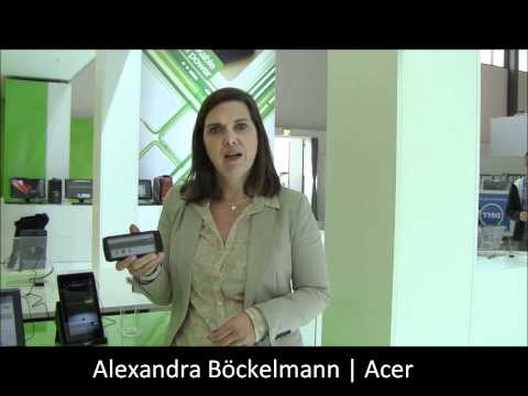 IFA 2011 - Iconia Smart -- Smartphone-Tablet am Acer Stand