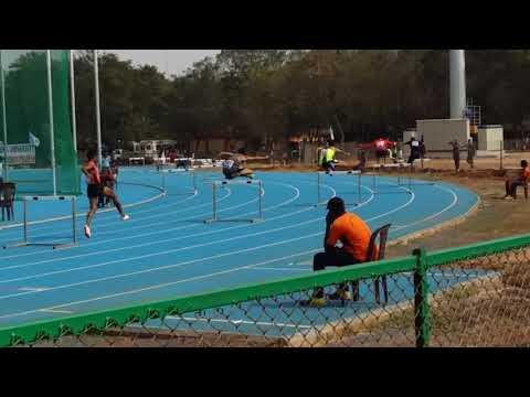 400m hurdles 78th all India inter University Athletics meet,guntur 2017