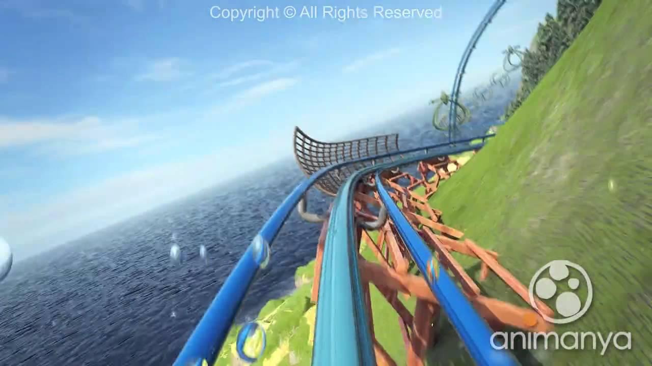 ISLAND COASTER 3D 7d cinema - YouTube