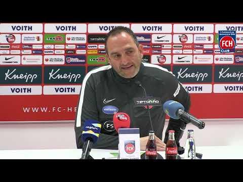 Pressekonferenz mit Frank Schmidt vor dem Auswärtsspiel beim VfB Stuttgart