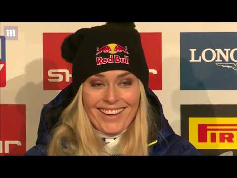Lindsey Vonn comments on her crash in penultimate race