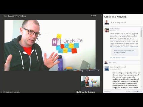 Skype for Business Broadcast and Yammer Conversations
