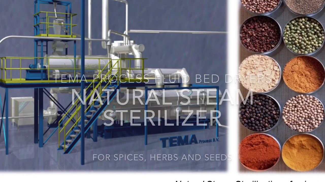 Sterilization and pasteurization of spices, herbs and grains