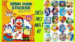 ? Bé tập tô màu - Hình dán sticker - Doraemon Tập 4 - Nhật ký chăm ngoan