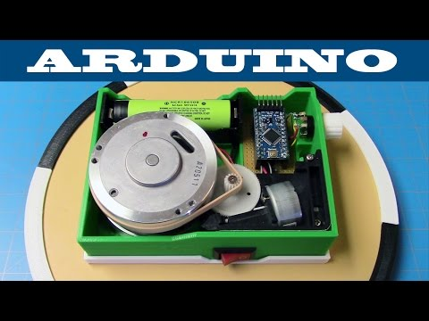 DIY $8 Battery Powered Turntable | Arduino  | 3D Print Project