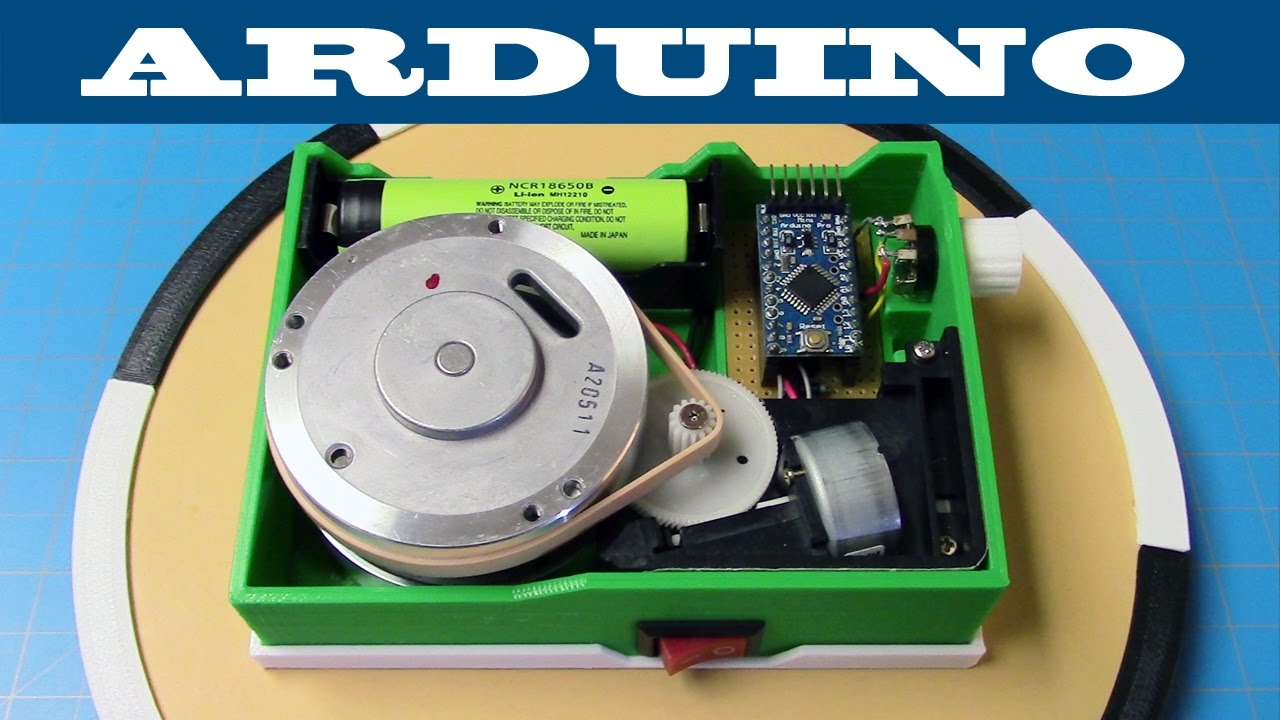 Diy battery powered turntable arduino d print