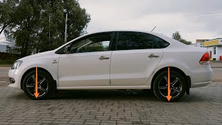 VW Polo sedan, сломалась задняя пружина от Golf4 за 4 года, замена пружин / 1150 рублей