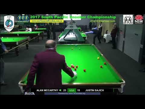 Alan McCarthy vs Jusin Sajich 2017 South Pacific Snooker Championship