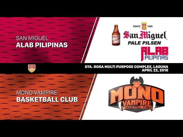 San Miguel Alab Pilipinas vs Mono Vampire | HIGHLIGHTS | 2017-2018 ASEAN Basketball League