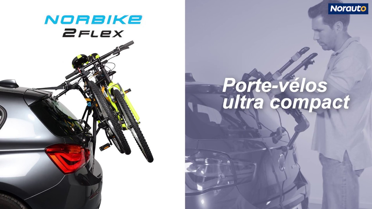 Porte Velo De Coffre Suspendu Norauto Norbike2 Flex Pour 2 Velos Disponible Sur N Youtube