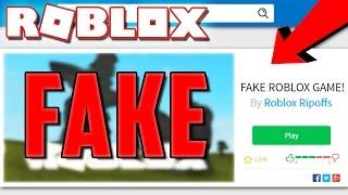 PLAYING FAKE RIPOFF ROBLOX GAMES!