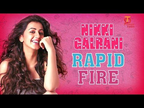 Nikki Galrani Exclusive Rapid Fire Interview | Kadavul Irukaan Kumaru | Rapid 55 | Thamizh Padam