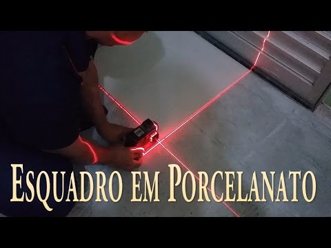 Esquadro de piso com Nivel Laser