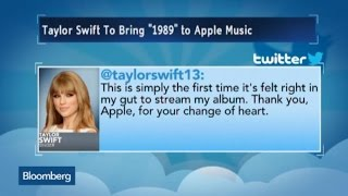 """Taylor Swift Agrees to Stream """"1989"""" on Apple Music"""