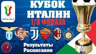 Футбол Кубок Италии 1 8 финала кто прошел в Четвертьфинал Результаты Расписание