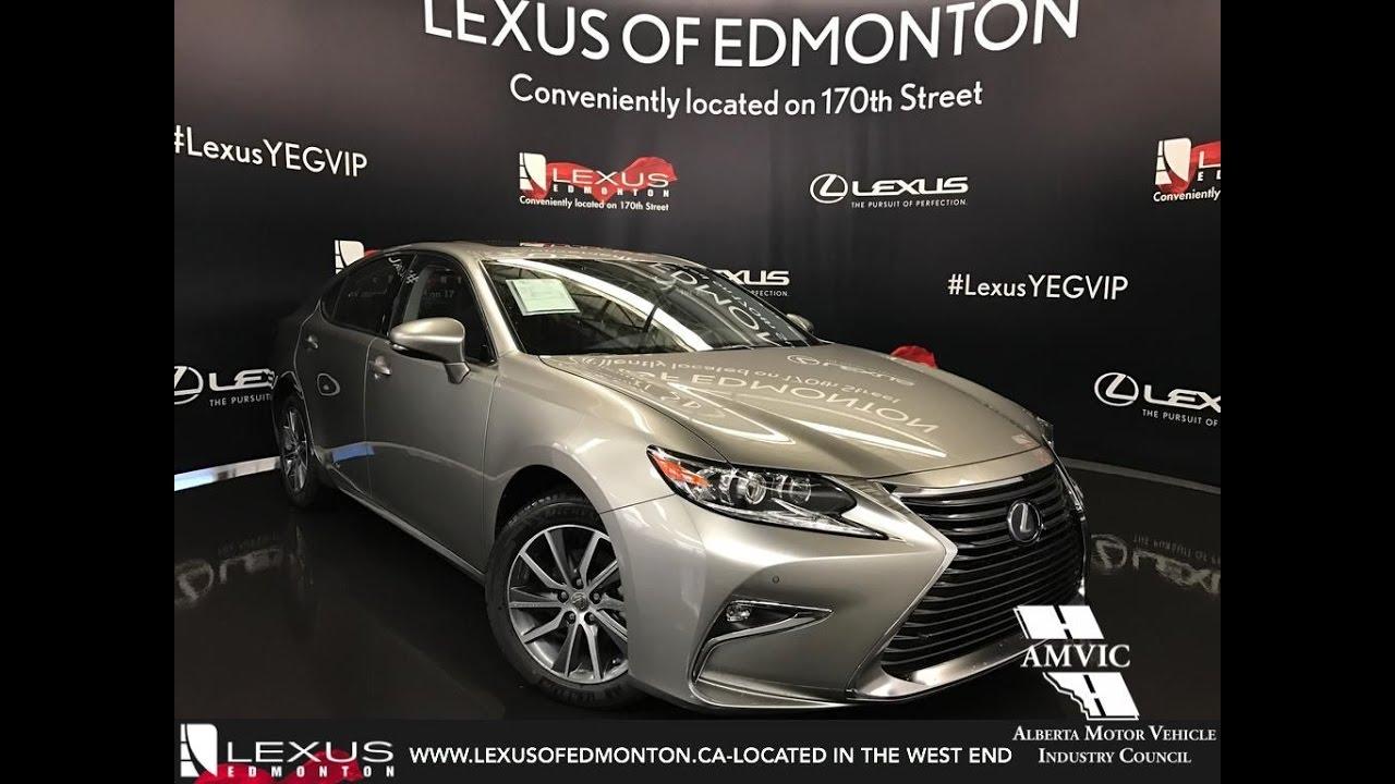 2017 Atomic Silver Lexus Es 300h Executive Walkaround Review West Edmonton Alberta You