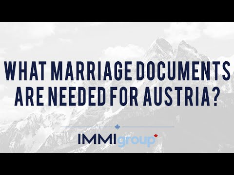 What Marriage Documents are needed for Austria?