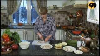 Заливной пирог с кратофелем и грибами.На кухне у Марты 28