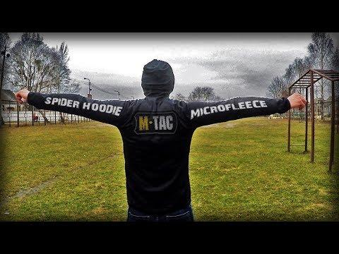 M-TAC КОФТА SPIDER MICROFLEECE HOODIE BLACK