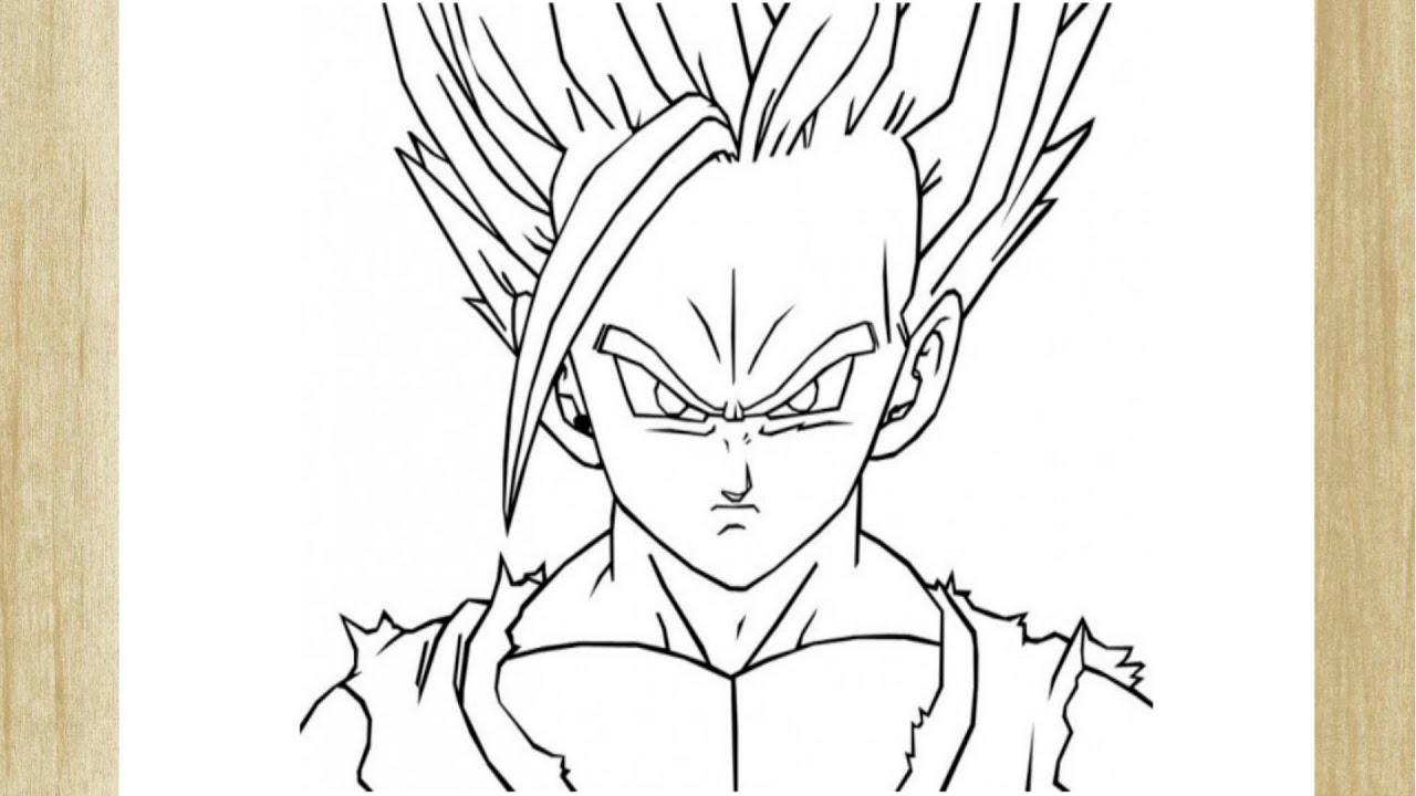 Como Desenhar O Gohan De Dragon Ball Z How To Draw Gohan