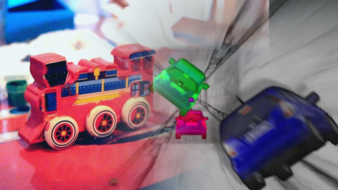 Cool Toy Train Cars : Cool train art vs crazy toy cars video for kids youtube