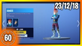 *NEW* GRIMBLES SKIN & COLD SNAP PICKAXE| 60 Second Fortnite Shop (Fortnite Battle Royale