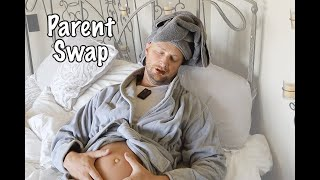 MOM & DAD Swap PREGNANT Bodies for 24 HOURS!! Parents Trade Places - KJAR Crew