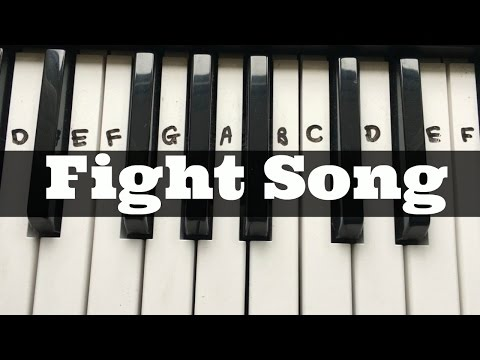 Fight Song – Rachel Platten | Easy Keyboard Tutorial With Notes (Right Hand)