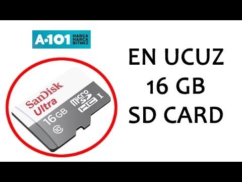En Ucuz 16gb Micro Sd Kart A101 Youtube