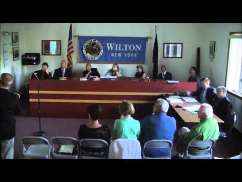 Town of Wilton NY - Town Board Meeting - July 2015