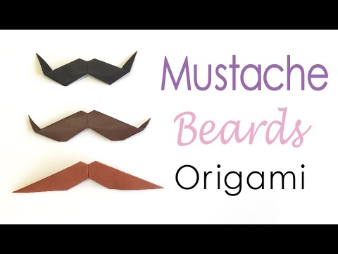 Easy☺︎ Origami Paper mustache (moustache) beard styles✨ - Origami Kawaii〔#142〕