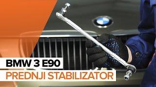 Vgradnja Drzalo, vlezajenje stabilizatorja BMW 3 SERIES: video priročniki