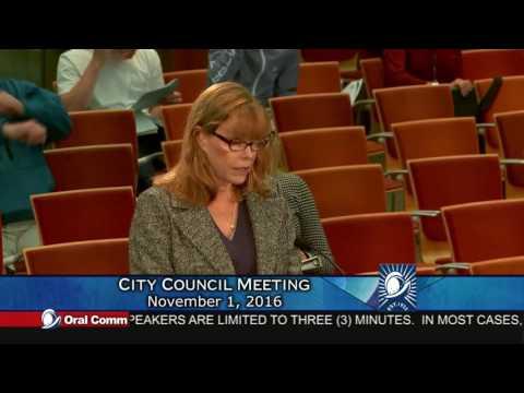 Paranoid, Delusional Danessa Techmanski, Cupertino City Council Meeting 11-1-16