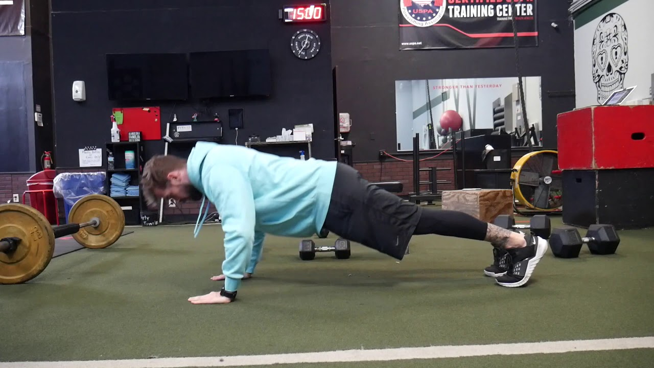 How to perform: 1.5 push ups