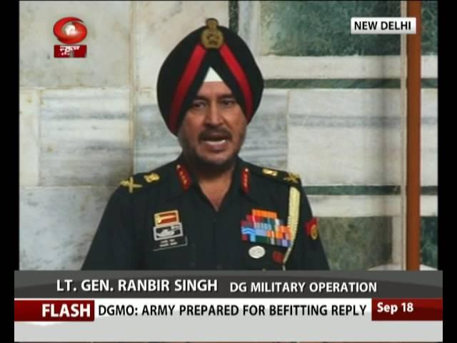 DGMO briefs media on Uri Terror Attack, says army prepared for befitting reply