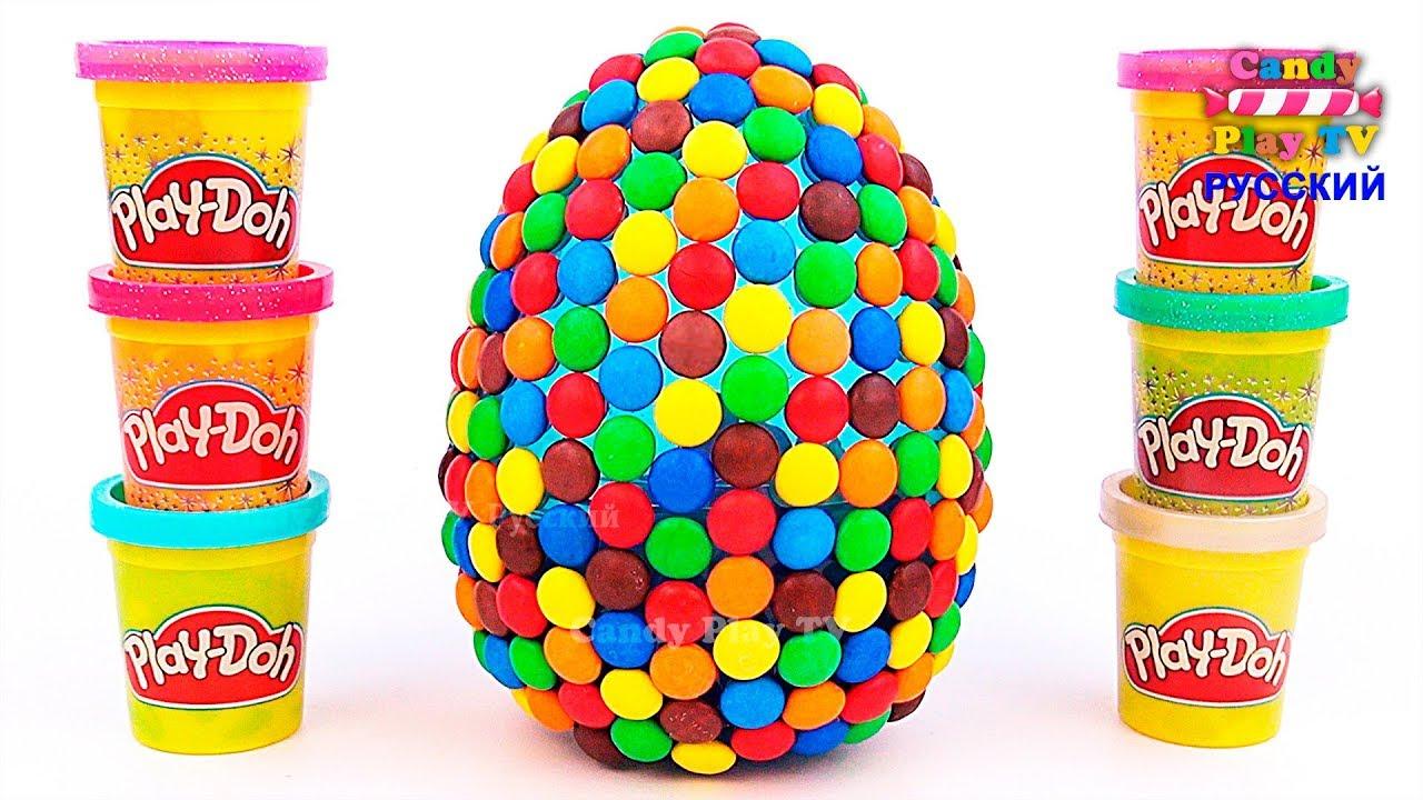 Огромное M&M's яйцо с сюрпризами Учим Английский алфавит ...