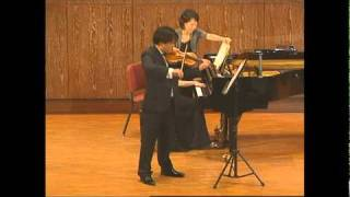 Brahms Violin Sonata No. 1 in G major, Op. 78, Regensonate, mvt. II Adagio
