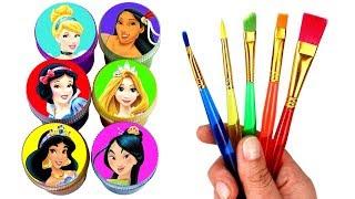 Disney Princess Drawing & Painting with Surprise Toys Snow White Jasmine Rapunzel Pocahontas