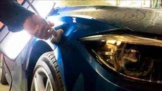 BMW F30. Ремонт без покраски. Холодный клей. PDR. Cold Glue.