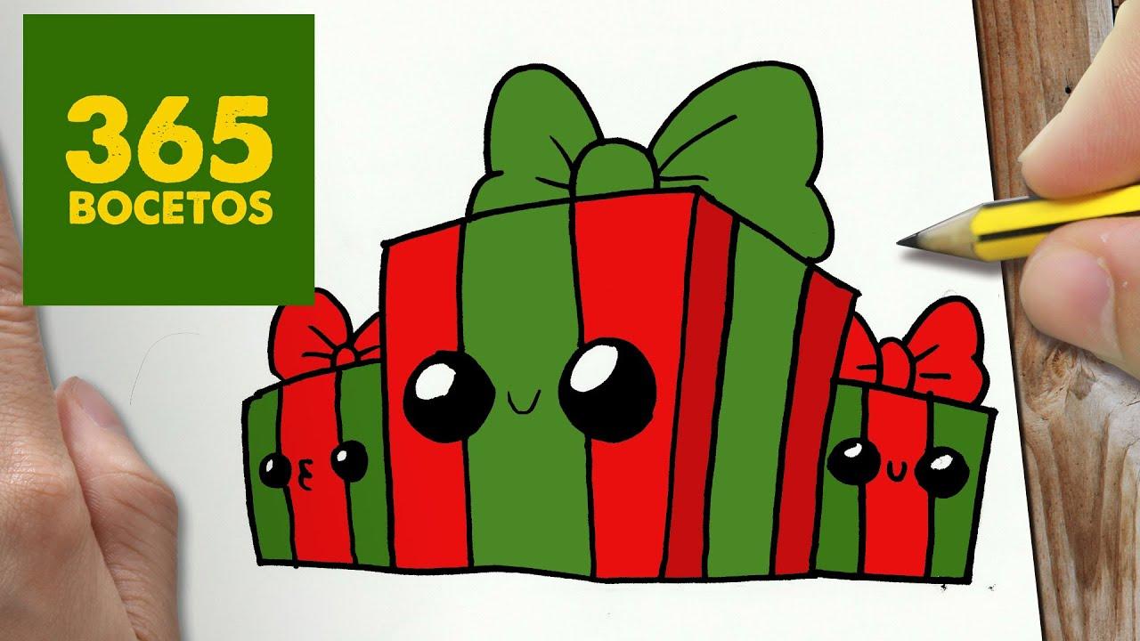 Como Dibujar Regalos Navidad Kawaii Paso A Paso Dibujos Kawaii