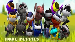RoboPuppies Animated Lowpoly 3D 🌈 MUSIC FOR KIDS
