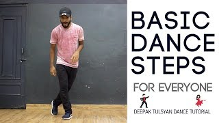 Basic Dance Steps for Everyone | 3 Simple Moves | Practice Everyday | Deepak Tulsyan | Hindi