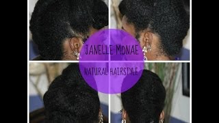 Natural Hair:Fall Protective Style: Janelle Monae Inspired French Roll